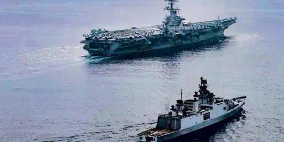 Indian Ocean gai USA aa India ge naval exercise thakeh