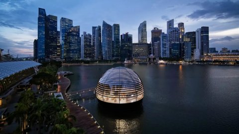 Apple Store Singapore: billoori gubbeh ge therey gai