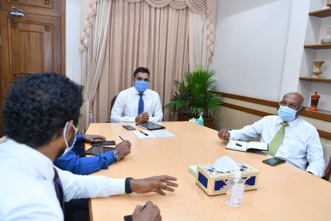 VICE PRESIDENT MEETS WITH THE SENIOR OFFICIALS OF MALDIVES BLOOD SERVICES