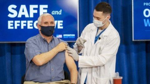 America ge naib raees Mike Pence covid vaccine jahaifi, Biden hoama dhuvahu jahaane