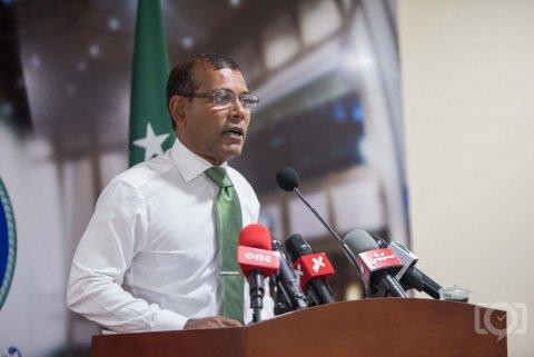 Aa aharu bahdhalu kuranee ummeedhu thakaa eku, hurihaa rayyithun ves vaccine jassavaa: Raees Nasheed