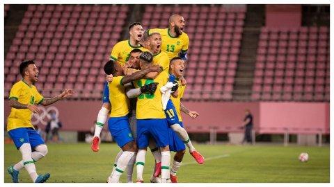 Spain 1-2 in balikoh Brazil Ran Medal dhifaau koffi
