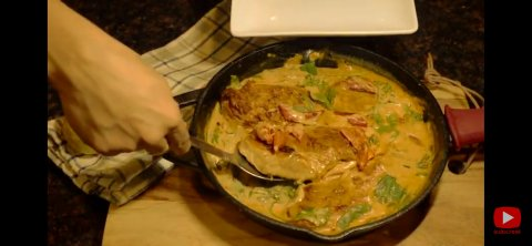 Chiken and spinach in creamy sauce